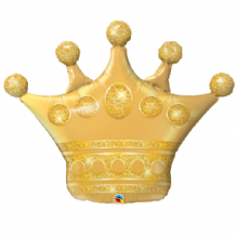 Golden Crown Large Foil Balloon 1pc